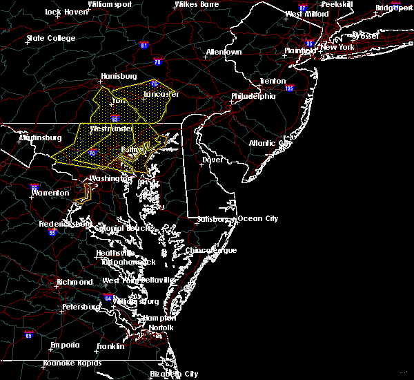 Radar Image for Severe Thunderstorms near Riverside, MD at 6/5/2016 4:25 PM EDT
