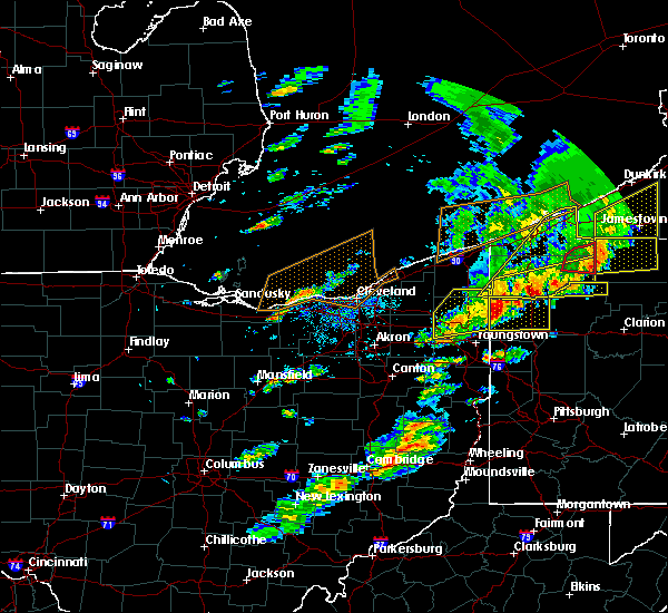 Radar Image for Severe Thunderstorms near South Canal, OH at 6/5/2016 4:44 PM EDT