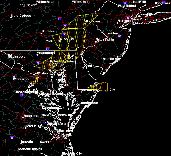 Radar Image for Severe Thunderstorms near Riverside, MD at 6/5/2016 4:47 PM EDT