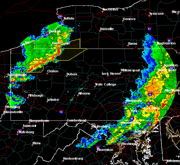 Radar Image for Severe Thunderstorms near Shinglehouse, PA at 6/5/2016 5:22 PM EDT