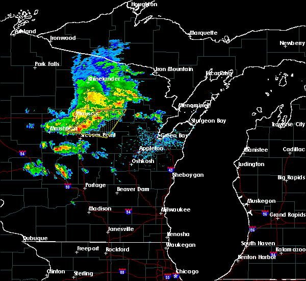 Radar Image for Severe Thunderstorms near Mosinee, WI at 6/5/2016 4:44 PM CDT