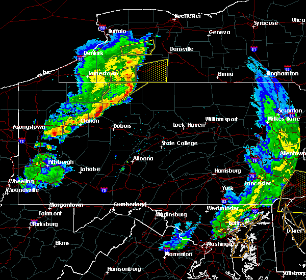 Radar Image for Severe Thunderstorms near Roulette, PA at 6/5/2016 5:59 PM EDT