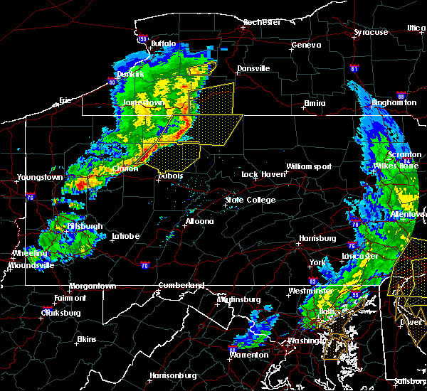 Radar Image for Severe Thunderstorms near Force, PA at 6/5/2016 6:03 PM EDT