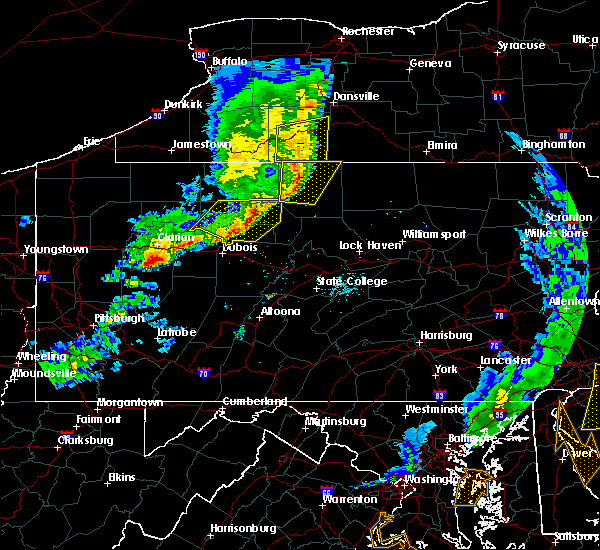Radar Image for Severe Thunderstorms near Roulette, PA at 6/5/2016 6:27 PM EDT