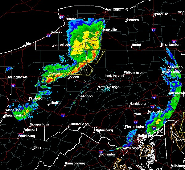 Radar Image for Severe Thunderstorms near Force, PA at 6/5/2016 6:34 PM EDT