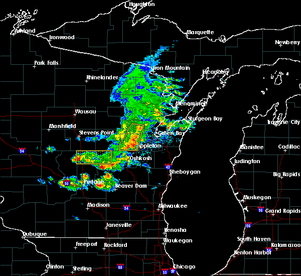 Radar Image for Severe Thunderstorms near Hortonville, WI at 6/5/2016 5:40 PM CDT