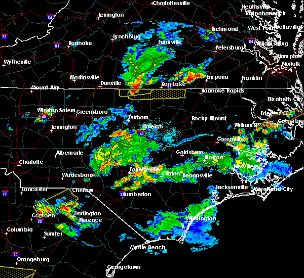 Radar Image for Severe Thunderstorms near Warrenton, NC at 6/5/2016 7:01 PM EDT