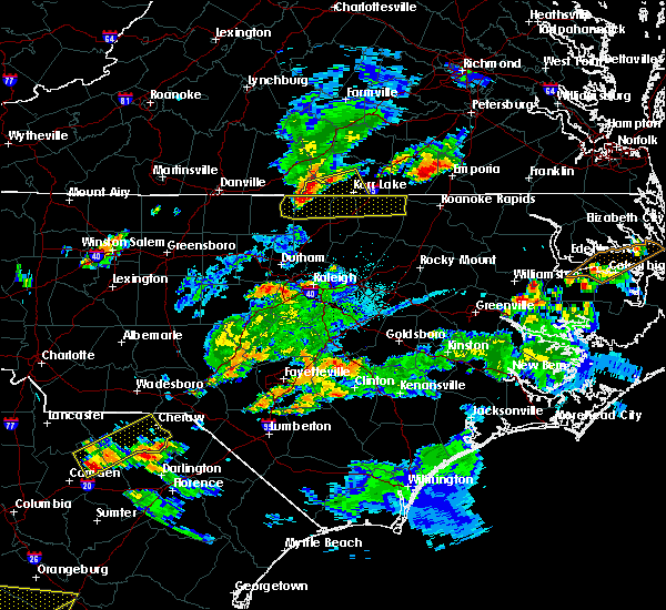 Radar Image for Severe Thunderstorms near Warrenton, NC at 6/5/2016 7:08 PM EDT