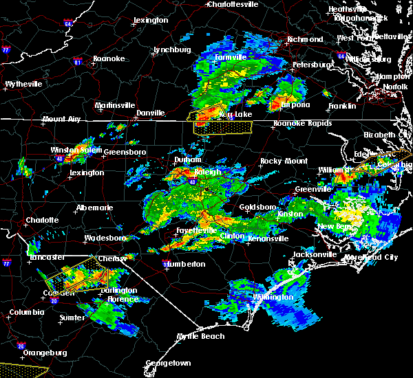 Radar Image for Severe Thunderstorms near Warrenton, NC at 6/5/2016 7:23 PM EDT