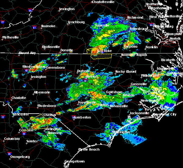 Radar Image for Severe Thunderstorms near Warrenton, NC at 6/5/2016 7:33 PM EDT
