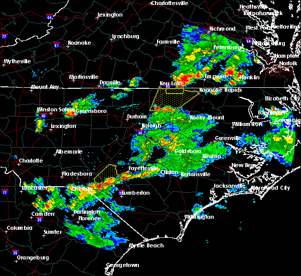 Radar Image for Severe Thunderstorms near Warrenton, NC at 6/5/2016 8:03 PM EDT