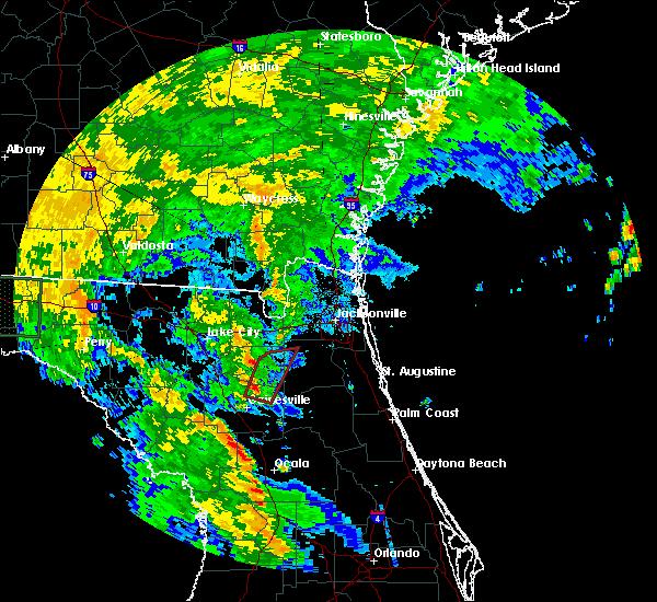 Radar Image for Severe Thunderstorms near Waldo, FL at 6/6/2016 1:34 PM EDT