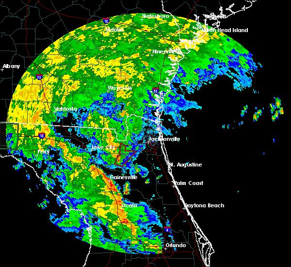 Radar Image for Severe Thunderstorms near Lawtey, FL at 6/6/2016 2:07 PM EDT
