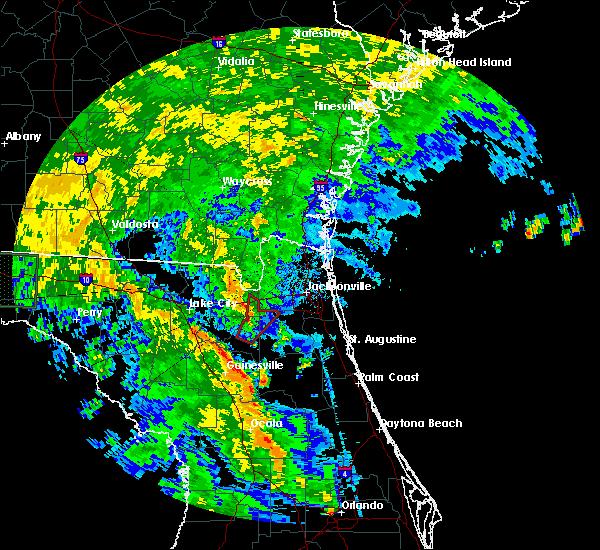 Radar Image for Severe Thunderstorms near Jacksonville, FL at 6/6/2016 2:18 PM EDT