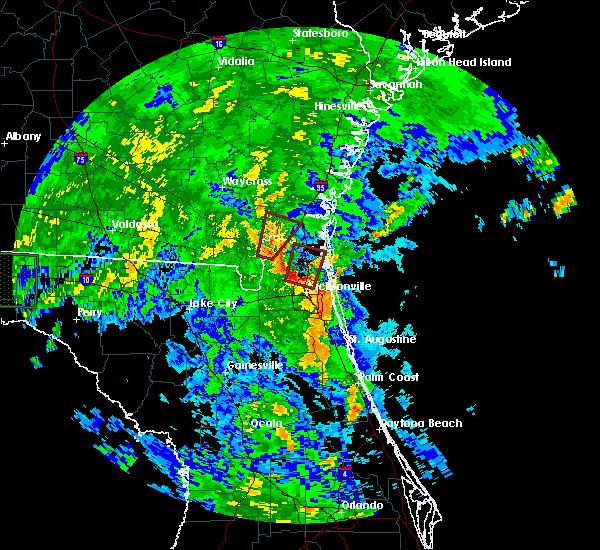 Radar Image for Severe Thunderstorms near Jacksonville, FL at 6/6/2016 3:50 PM EDT
