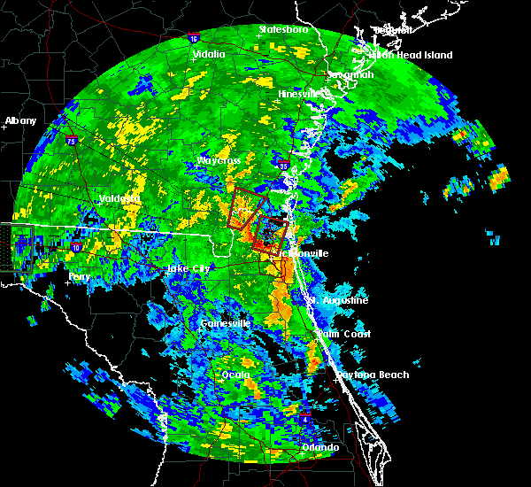 Radar Image for Severe Thunderstorms near Yulee, FL at 6/6/2016 3:50 PM EDT
