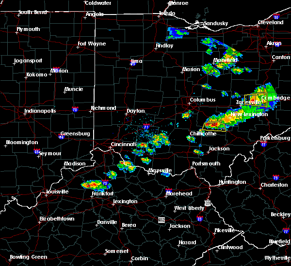 Radar Image for Severe Thunderstorms near Logan, OH at 6/6/2016 8:35 PM EDT