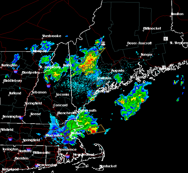 Radar Image for Severe Thunderstorms near Dixfield, ME at 6/7/2016 9:49 PM EDT