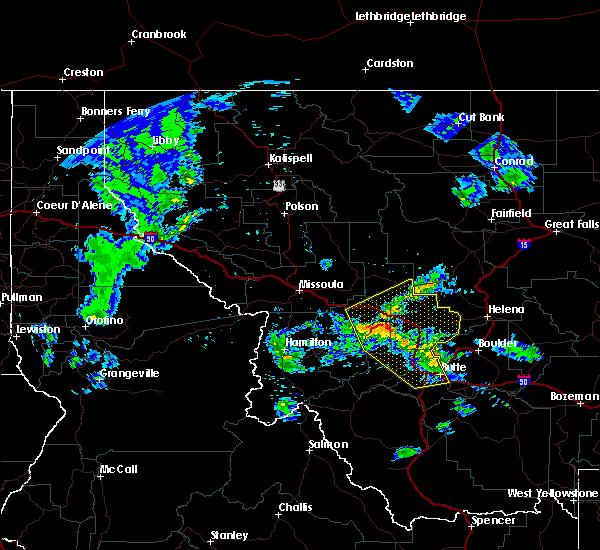 Radar Image for Severe Thunderstorms near Elliston, MT at 6/8/2016 9:15 PM MDT