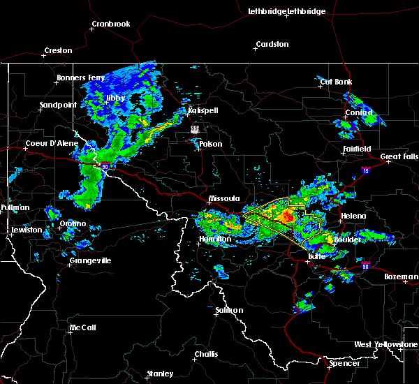 Radar Image for Severe Thunderstorms near Elliston, MT at 6/8/2016 9:39 PM MDT