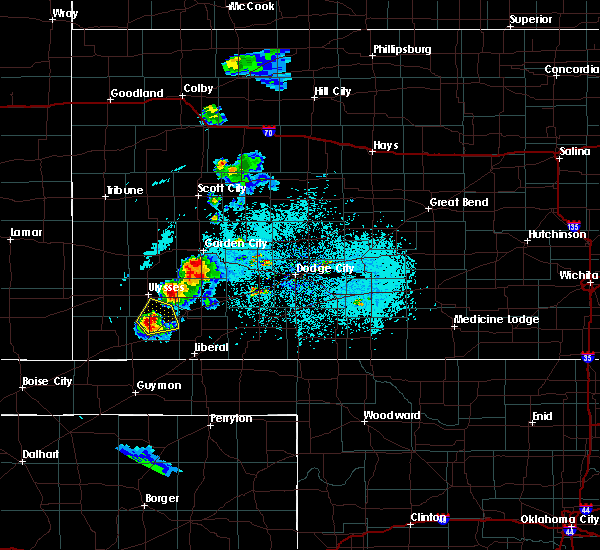 Radar Image for Severe Thunderstorms near Moscow, KS at 6/9/2016 8:24 PM CDT