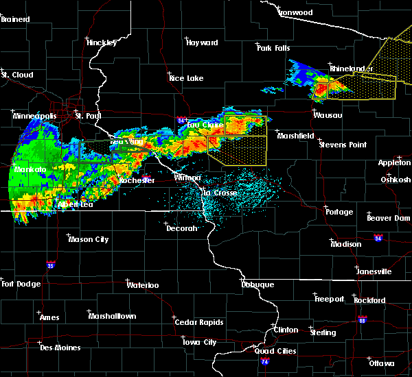 Radar Image for Severe Thunderstorms near Granton, WI at 6/10/2016 5:32 PM CDT