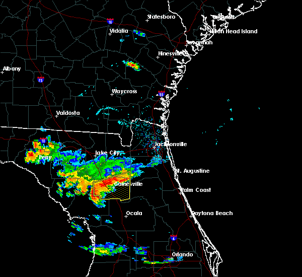 Radar Image for Severe Thunderstorms near Gainesville, FL at 6/10/2016 6:44 PM EDT