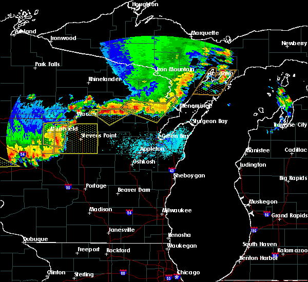 Radar Image for Severe Thunderstorms near Mosinee, WI at 6/10/2016 6:25 PM CDT