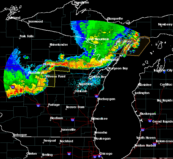 Radar Image for Severe Thunderstorms near Mosinee, WI at 6/10/2016 6:52 PM CDT