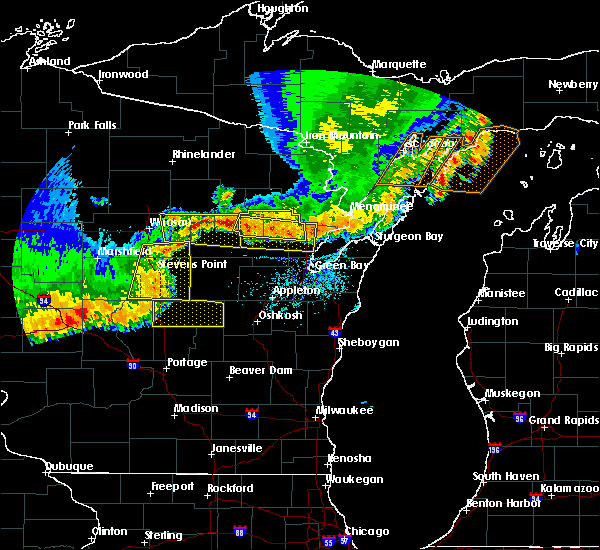 Radar Image for Severe Thunderstorms near Abrams, WI at 6/10/2016 6:59 PM CDT