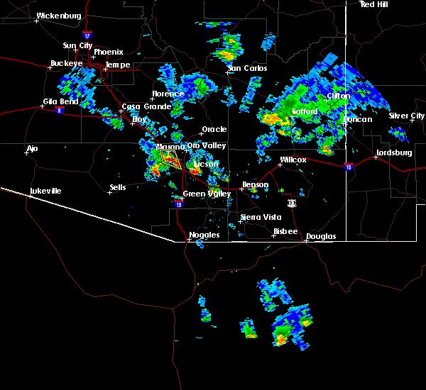 Radar Image for Severe Thunderstorms near Marana, AZ at 6/10/2016 6:04 PM MST