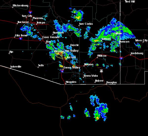 Radar Image for Severe Thunderstorms near Marana, AZ at 6/10/2016 6:18 PM MST
