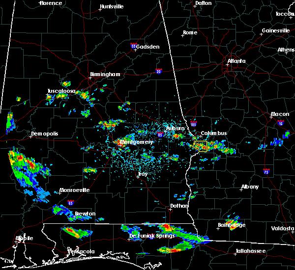 Radar Image for Severe Thunderstorms near Columbus, GA at 6/11/2016 4:14 PM EDT