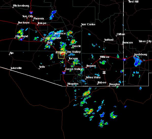 Radar Image for Severe Thunderstorms near Marana, AZ at 6/11/2016 2:33 PM MST