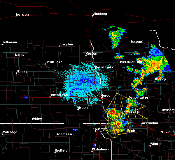 Radar Image for Severe Thunderstorms near Perham, MN at 6/12/2016 3:25 PM CDT