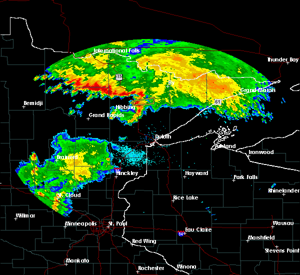 Radar Image for Severe Thunderstorms near Aurora, MN at 6/12/2016 7:48 PM CDT