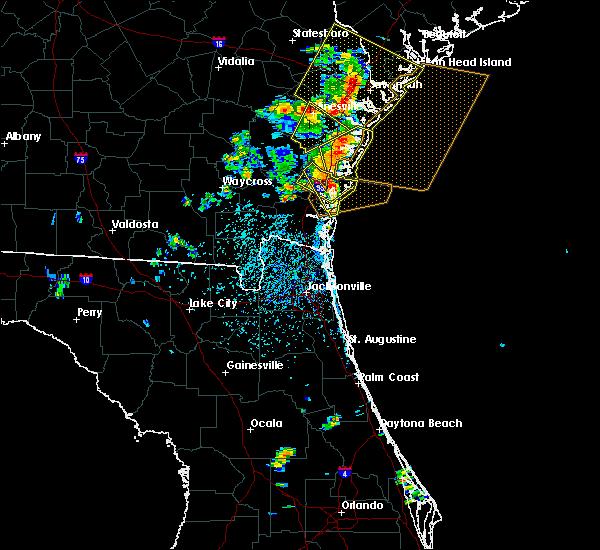 Radar Image for Severe Thunderstorms near Darien, GA at 6/14/2016 3:12 PM EDT