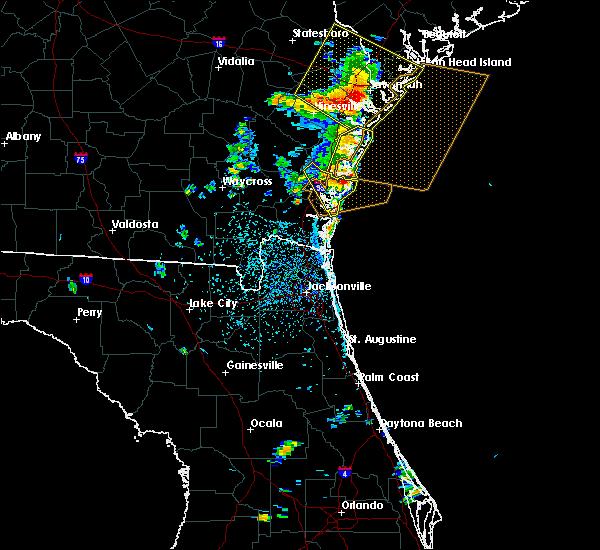 Radar Image for Severe Thunderstorms near Darien, GA at 6/14/2016 3:34 PM EDT