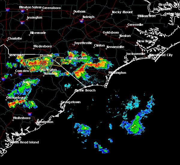 Radar Image for Severe Thunderstorms near Pembroke, NC at 6/14/2016 6:11 PM EDT