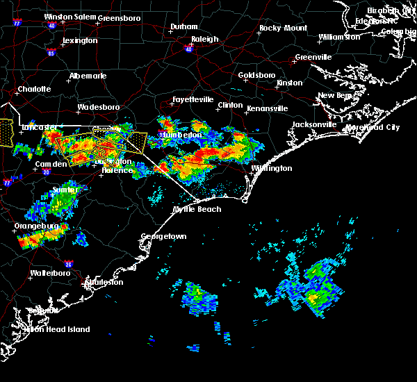 Radar Image for Severe Thunderstorms near Pembroke, NC at 6/14/2016 6:23 PM EDT