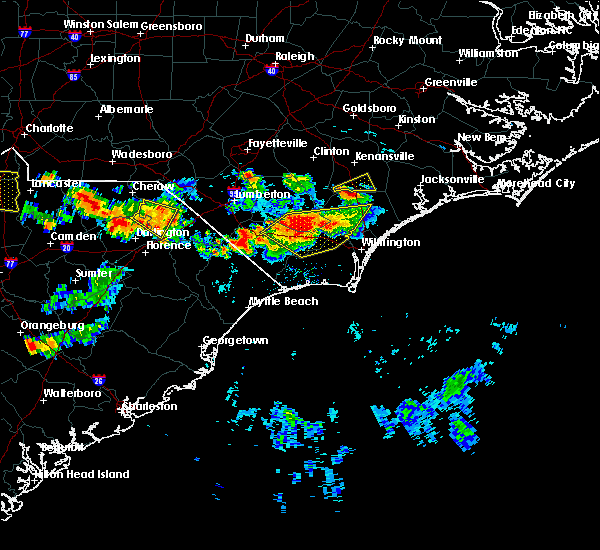 Radar Image for Severe Thunderstorms near Teachey, NC at 6/14/2016 6:36 PM EDT