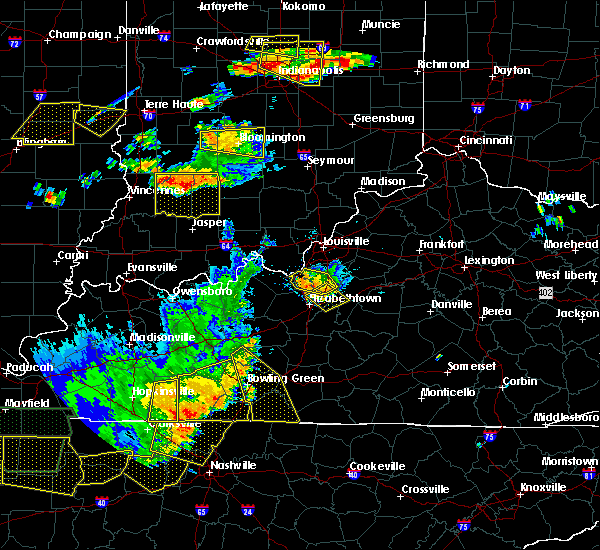 Radar Image for Severe Thunderstorms near West Point, KY at 6/15/2016 4:39 PM EDT