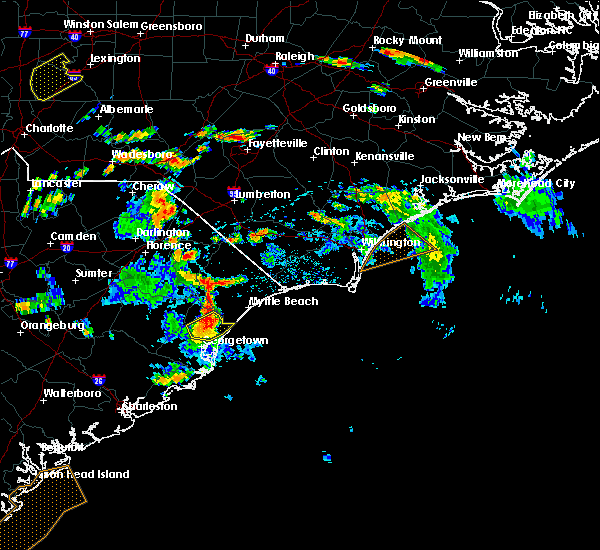 Radar Image for Severe Thunderstorms near Murrells Inlet, SC at 6/15/2016 4:47 PM EDT