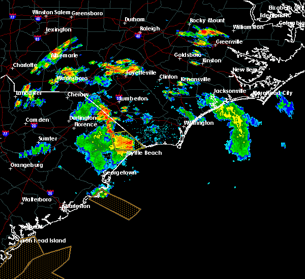 Radar Image for Severe Thunderstorms near Atlantic Beach, SC at 6/15/2016 5:31 PM EDT