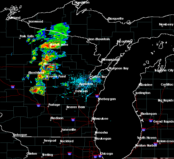 Radar Image for Severe Thunderstorms near Aniwa, WI at 6/15/2016 4:47 PM CDT