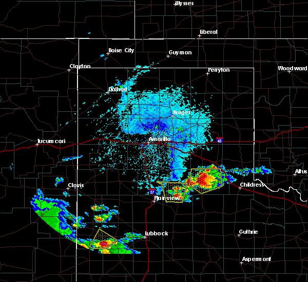 Radar Image for Severe Thunderstorms near Turkey, TX at 6/15/2016 5:36 PM CDT