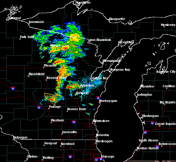 Radar Image for Severe Thunderstorms near Hortonville, WI at 6/15/2016 5:46 PM CDT