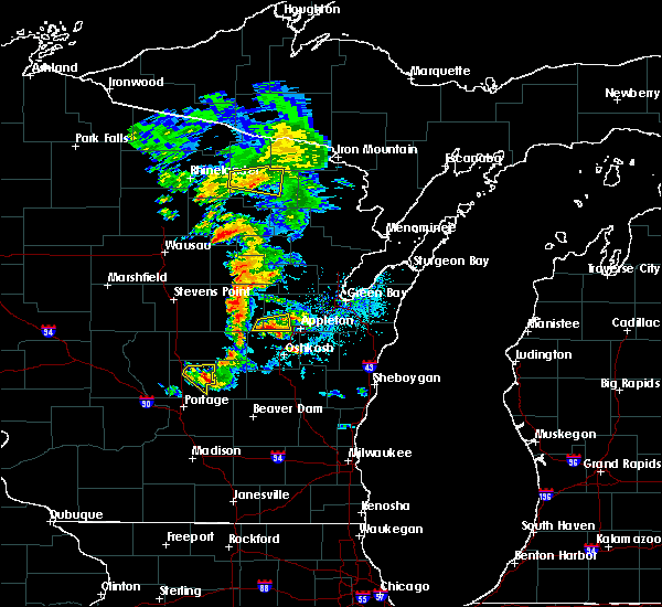 Radar Image for Severe Thunderstorms near Hortonville, WI at 6/15/2016 5:55 PM CDT
