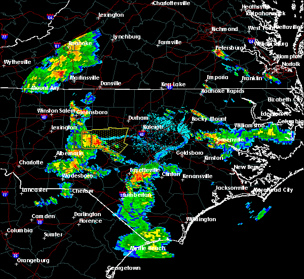Radar Image for Severe Thunderstorms near Moncure, NC at 6/15/2016 7:01 PM EDT