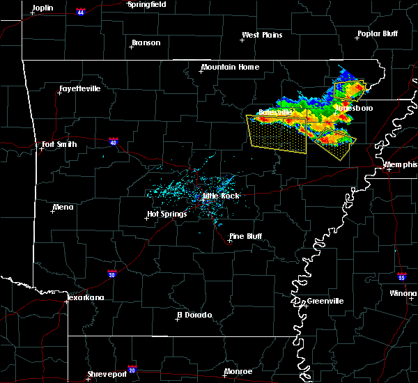 Radar Image for Severe Thunderstorms near Newark, AR at 6/15/2016 6:33 PM CDT
